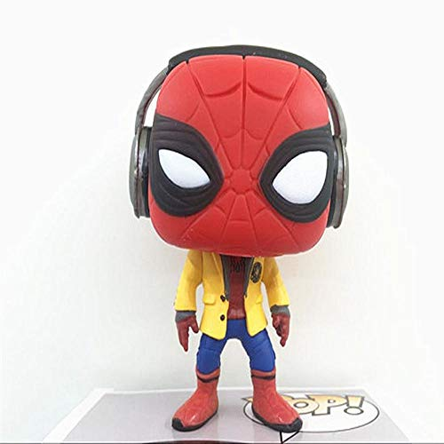 Action Figure Figurine Spiderman Q Version Spider-Man: Retour Au Berceau Écouteurs Uniformes Scolaires Spiderman Character Model Children's Toys 10cm