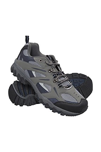 Mountain Warehouse Jungle Mens Walking Shoes - Lightweight Running Shoes, Breathable, Soft, Comfortable, Flexible Gym Shoes - Ideal for All Season Hiking & Trekking Blue 10 UK
