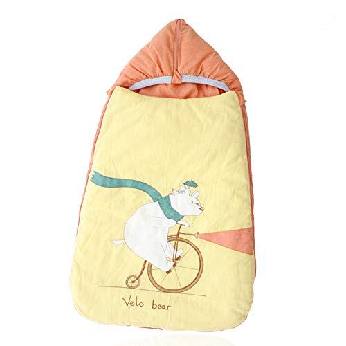 Bobbbiio Baby Schlafsack Neugeborenes Decke Innen Weich Gefüttert Pucksack Für Neugeborene Zu Jeder Jahreszeit Verwendbar Dual-Use-Schlafsack Ist Bequemer,Dthinliner+Thickliner