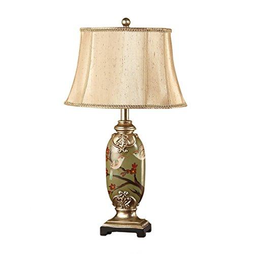 &Leselicht Retro Lichter Hand bemalte Tischlampe Schlafzimmer Bedside Lampe Wohnzimmer Licht Schreibtisch Licht ( Farbe : D-Schalter ) - Handbemalte Mini-lampe