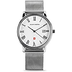 Men's Watch Nelson Martina Classic Silver 309
