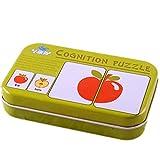 kofun-Infant Early Head Start Training Puzzle Kognitive Karte Baby Toys Gemüse Kognitive, Papier, Vegetable Cognitive, 137 * 85 * 27mm White cardboard: 75 * 55mm