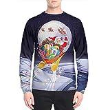 Soupliebe Herren Herbst Winter Weihnachten Druck Top Herren Langarm T Shirt Bluse