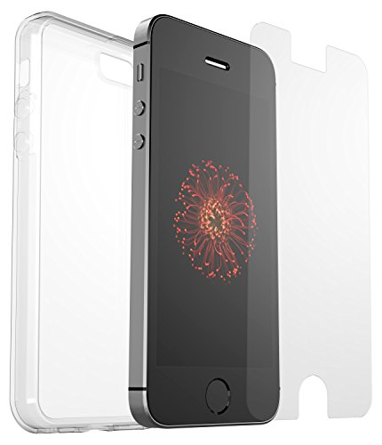 OtterBox Clearly Protected Skin Bundle Extra Slim Silikon Schutzhülle + Alpha Glass Display Schutzglass, geeignet für Apple iPhone 5/5S/SE (Bundle Iphone)