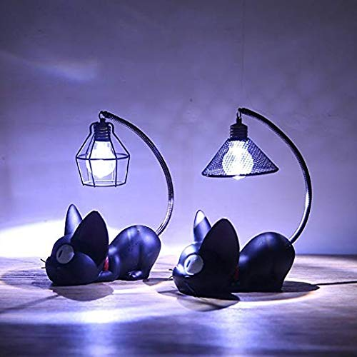 KY&cL Jiji Cat Night Light Resin Mini Night Light Home Decoration/Creative Resin Ornaments Dekoration/Crafts (Set of 2 (A und B)),A+B