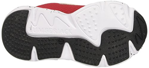 Lumberjack Jungen Wrap Bright Niedrige Sneaker Rosso (White/Grey/Red)