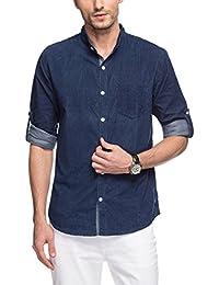 nick&jess - Camisa casual - cuello mao - Manga Larga - para hombre