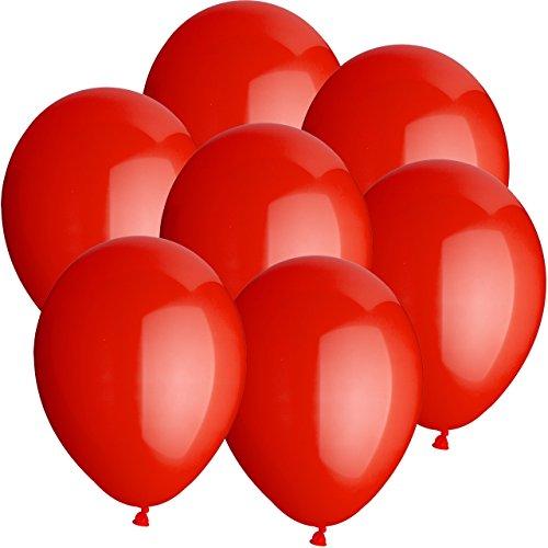 50x Rundballons ROT Ø25cm + Geschenkkarte + Helium & Ballongas geeignet. Tolle Luftballondeko und Geschenkidee mit Ballons.