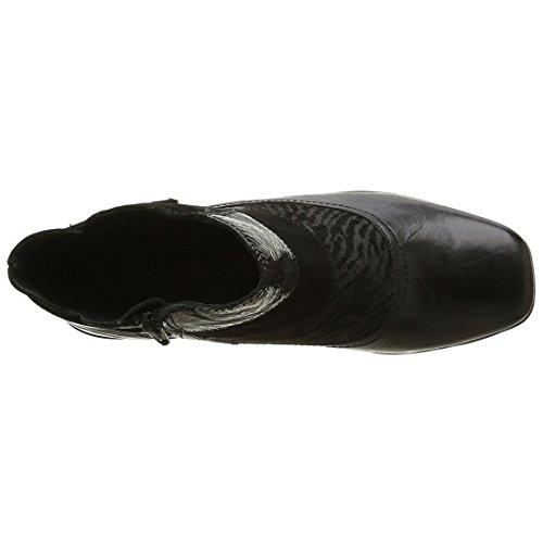 Romika Damen Carree 16 Klassische Stiefel, Knöchelhoch Schwarz
