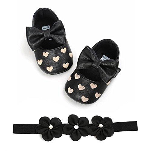 LUCKYCAT Sandales d'été Bébé, Amazon Chaussures de Bébé Filles Garçon Chaussures à Semelle Souple Amour Cuir À la Mode + Bande de Cheveux 2018