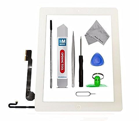 MMOBIEL Digitizer Display Glas für IPAD 4 (Weiss) Touchscreen Ersatzteil