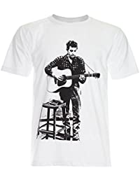 PALLAS Men's Bob Dylan Play Guiter T-Shirt