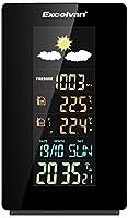 Excelvan Stazione Meteo Multifunzione Digitale Wireless Indoor & Outdoor con Sensore-Monitor Temperatura, Umiditš€, Indicatore di Tendenza di Previsione, Orologio