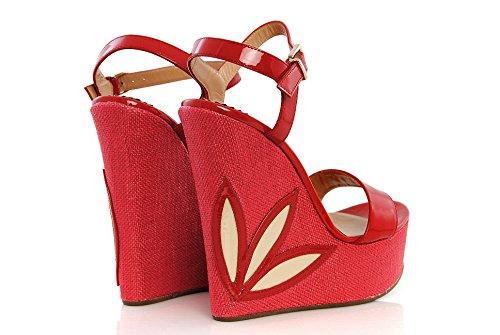 Emporio Armani , Sandales pour femme Multicolore Multicolore Multicolore - Rosso