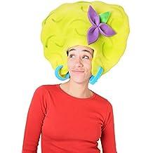 Sombrero de gomaespuma afro amarilla