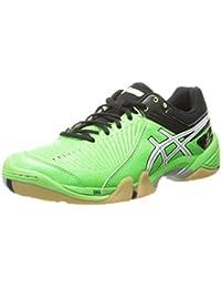 Zapatillas de voleibol Asics Gel-Domain 3 para hombres, verde ne¨n / blanco / negro, 10.5 M US