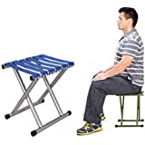 Luvina Portable Folding Stool, Super Strong Heavy Duty Outdoor Folding Chair Hold up to 650 lbs, Unfold Size 13.9(L) x14.3(W) x17.8(H) Inch Pack of One (Large)