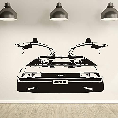 Wandaufkleber, Zurück In Die Zukunft Delorean Dmc 1981 Vinyl Wandkunst Aufkleber Remvable Schlafzimmer Auto Aufkleber Wohnzimmer Dekoration 57X96 Cm