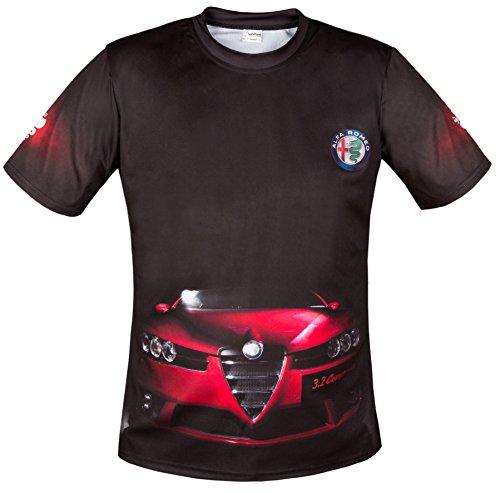 Alfa Romeo Print Mito Schwarz Cool Car Short Sleeve T-Shirt Mens Fitted Tshirts (XXXL)