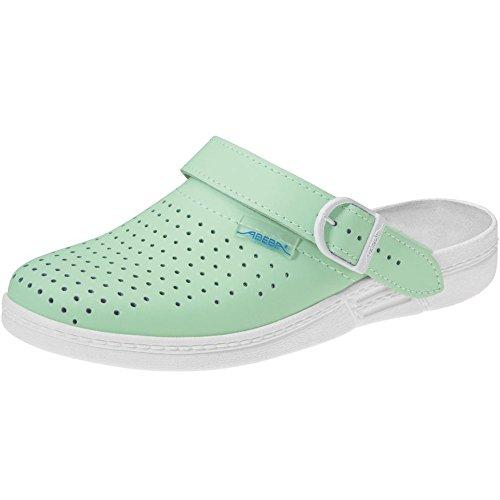 Abeba 18.008,6cmThe Original Occupational-Clog Shoe minz-green/white