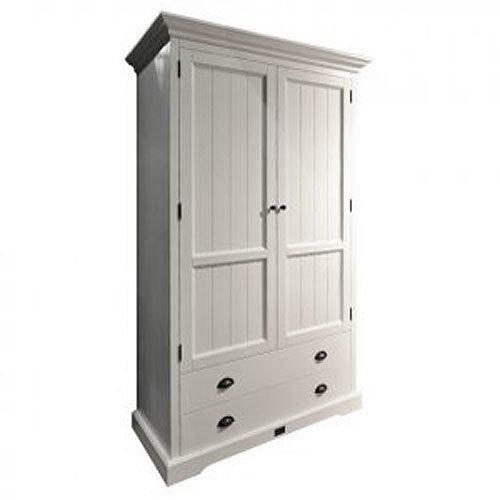 Kleiderschrank Schrank BEACH, Weiß, 2türig, Höhe: 215cm, Breite: 122cm PID 11739
