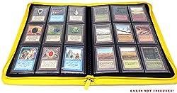 docsmagic.de Pro-Player 9-Pocket Zip-Album Yellow - 360 Card Binder - MTG - PKM - YGO - Reissverschluss Gelb