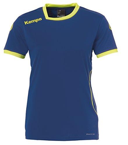 Kempa Curve Damen Trikot, deep blau/Fluo gelb, M