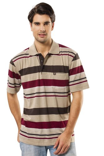 Enrico Ferry Polo-Shirt, NT 2153 CRS Braun/Rot