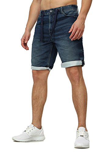 Sweat Jeans Denim Jogger Shorts Sommer Kurze Hose Sublevel 98-86 dunkelblau dunkelblau W34