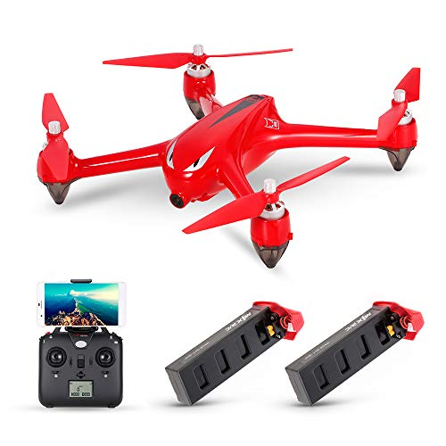 MJX B2W Bugs 2W 2.4G 6-Axis Gyro Brushless Motor Independent ESC 1080P Camera Wifi FPV Drone GPS RC Quadcopter w/Two Batteries