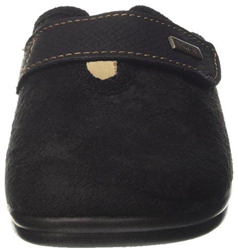 INBLU Betulla, Pantofole Aperte sulla Caviglia Donna Nero