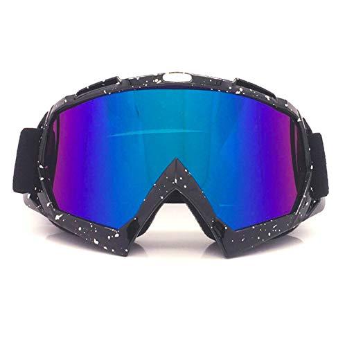 Adisaer Radbrille Herren Motorradausrüstung Off Road Brille Skibrille Brille Helm Reiten Outdoor Brille Black White Multicolor Damen Herren