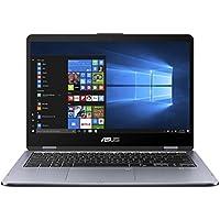 Asus VivoBook Flip 14 TP410UA-EC405T 35,6 cm (14 Zoll FHD Touch) Convertible Notebook (Intel Core i5-8250U, 8GB RAM, 256GB SSD, UHD-Grafik 620, Win 10) schwarz