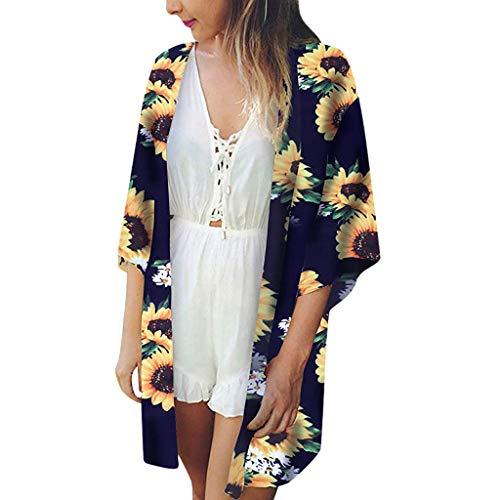 Paisley-scoop (Cooljun Damen Vintage Spitzen Bikini Sets Strand Bademode Badeanzug Damen Beach Tops Print Sonnenblumen Bademode Strickjacke Badeanzug Bikini Cover Up)