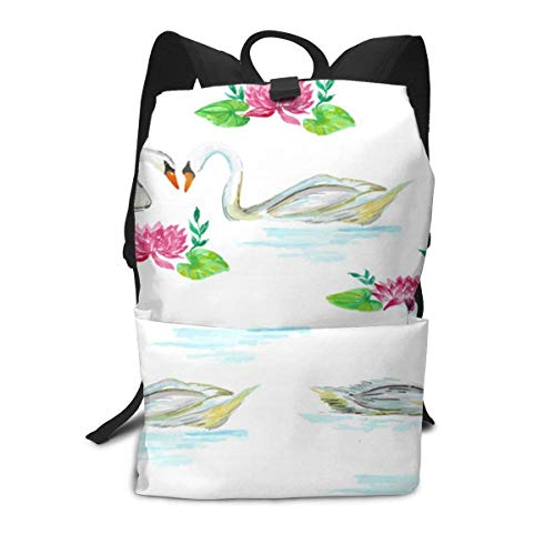 Ducks Pond Backpack Middle für Kinder Jugendliche School Travel Bag (Daisy Hat Duck)