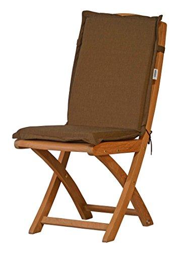 2 x Braun melierte Sitzauflage für Garten-Stühle & Klappstühle, 88 x 40 cm | Premium...