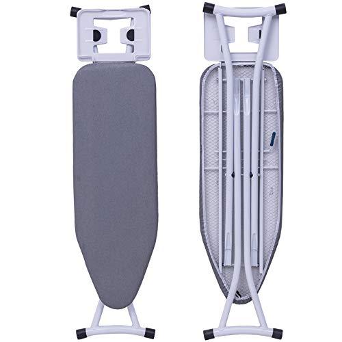 WOLTU BGT03gr Bügeltisch Bügelbrett für Dampfbügeleisen Grau höhenverstellbar
