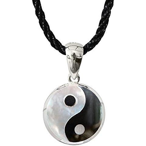 Argento orecchino/Pendant con conchiglia e pietra Yin Yang disponibile in Set Veri di Shalalla Londra