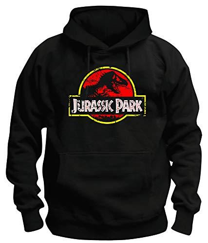 TShirt-People TSP Jurassic Park Distressed Logo Kapuzen-Sweatshirt Herren M Schwarz (Sweatshirt Jurassic Park)