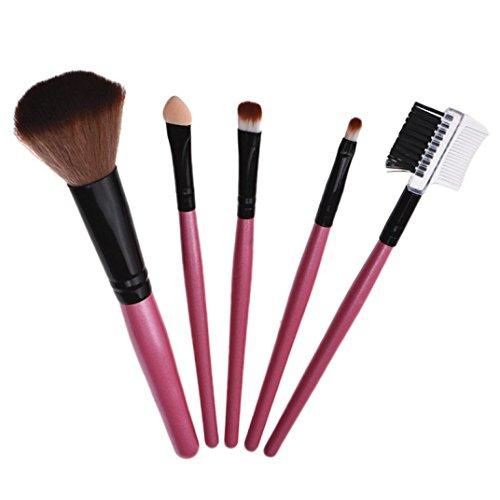 Internet 5 PCS Brosses Avec Manche en Bois de Maquillage Professionnel Brosse Cosmétiques Rose