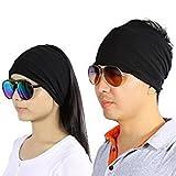 ZJchao Lot de 2coton Bandeau cheveux anti-transpiration humidité Wicking pour les hommes femmes Yoga de Course exercice Entraînement