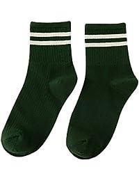 Calcetines deportivos de skate de algodón con rayas unisex QinMM socks