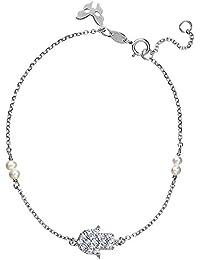 Vamp Londres plata símbolo Hamsa de la pulsera