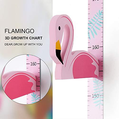 Wopeite 3D Wachstumstabelle Messhöhe Lineal Tragbare Magnetische Abnehmbare EVA Header Flamingo Decals Kinderzimmer Kindergarten (Fantastischen Vier Decal)