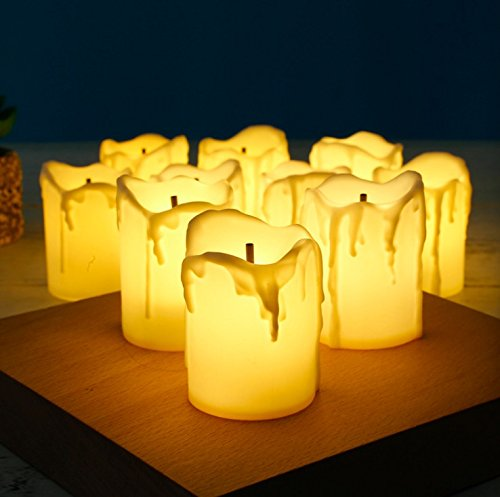 Candele LED MumoHome a Risparmio Energetico Senza Fiamma (Set di 12)