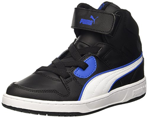 Puma Rebound Street L V Ps Sneaker, Nero/Bianco, 33 EU (1 UK)
