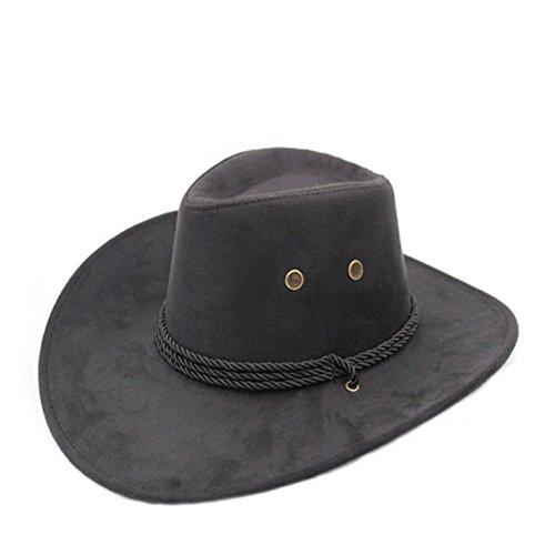 (Sommer Outdoor-Hüte/Cowboy-Hut/ Männliche und weibliche Jazzhut/ Reitkappe/Visier/Strohhut/Großer Strand Hüte-E One Size)