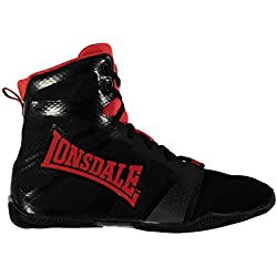 Lonsdale Hombre Ghostspeed Hombre Boxing Botas Zapatos Deporte Entrenar Negro / Rojo 11 (45)