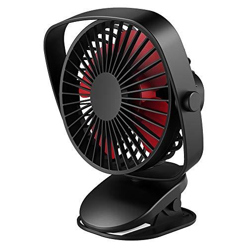 VersionTECH. Mini Ventilador de Mesa con Clip Abrazadera Rotación 360° USB Portátil...