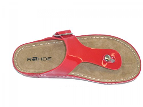 Rohde 5804, Damen Zehentrenner Rot (Rouge)